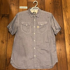 G Star Short Sleeve Denim Shirt
